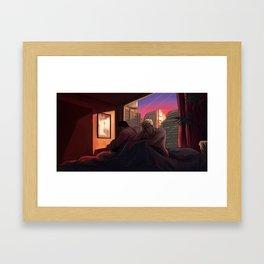 Neon Apartment Framed Art Print