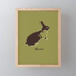 Oliver the Bunny Framed Mini Art Print
