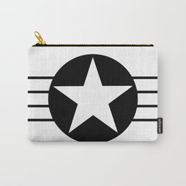 Black and white star Carry-All Pouch
