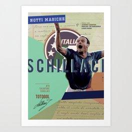 #19 Schillaci // World Cup • Football Stars  Art Print