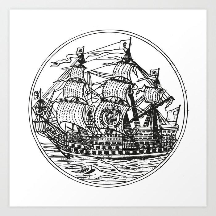 Galleon Art Print