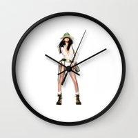 cowboy Wall Clocks featuring cowboy by tatiana-teni