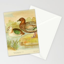 Green Pygmy Goose White quilled Pygmy Goose Maned Goose4 Stationery Cards