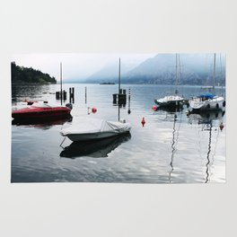 Boats on Lake Garda Rug