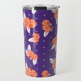 Floral clemson sports college football university varsity team alumni fan gifts purple and orange Travel Mug