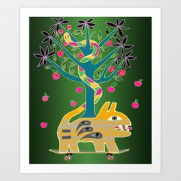 Apple of discord. Art Print
