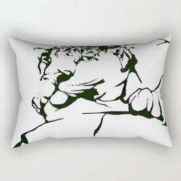 Leopard In(tro)spection Rectangular Pillow