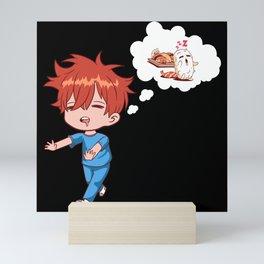 Sleepwalking Dreaming Sushi Sashimi Mini Art Print
