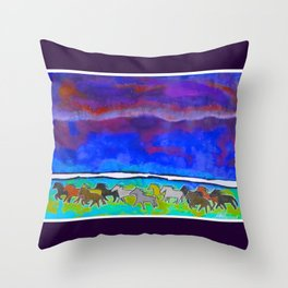 Sky Ponies #31 Throw Pillow