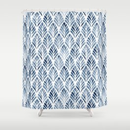 Indigo Forest Shower Curtain