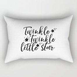 Twinkle Twinkle Little Star,Nursery Decor,Kids Room Decor,Kids Gift,Wall Art,Typography Print Rectangular Pillow