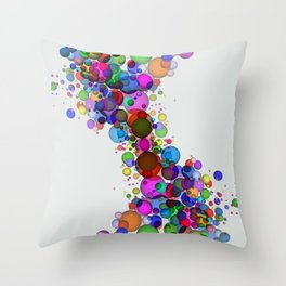 Colorful Spheres Throw Pillow