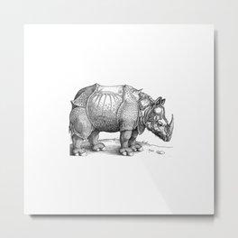 Durer- The rhinoceros. Metal Print