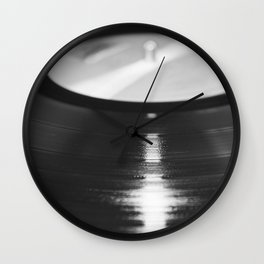 Record (Black and White) Wall Clock
