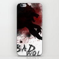 bad wolf iPhone & iPod Skins featuring Bad wolf by Halopromise