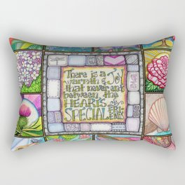 My Patchwork Friendship Squares Rectangular Pillow