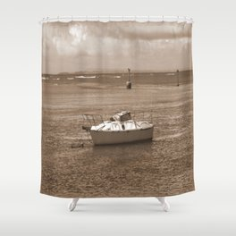 Rustic Boat Shower Curtain
