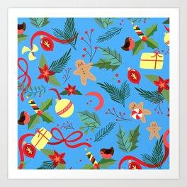 Christmas Pattern 10 Art Print