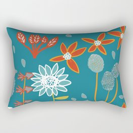 Happy Flowers Collection Rectangular Pillow