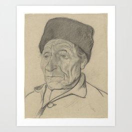 Head of an old man with a hat, Richard Roland Holst, 1878 - 1938 Art Print