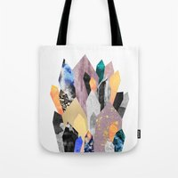 minerals Tote Bags featuring Crystals by Elisabeth Fredriksson