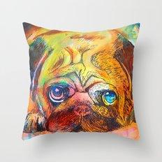 Pop Art Pug Throw Pillow