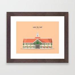 Lau Pa Sat, Singapore [Building Singapore] Framed Art Print