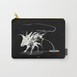 Rat and rainbow. White on dark on background - (Red eyes series) Carry-All Pouch