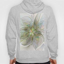 Floral Fantasy, Abstract Fractal Art Hoody