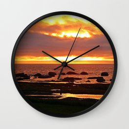 Stunning Orange Sunset Wall Clock