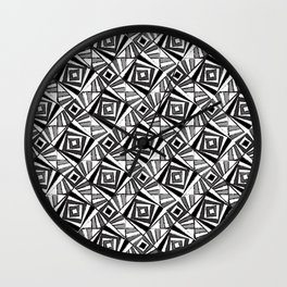 Black & White 4 Wall Clock