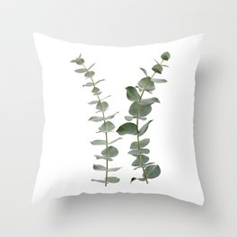 Eucalyptus Branches I Throw Pillow