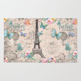 Paris - my love - France Nostalgy- pink French Vintage Rug