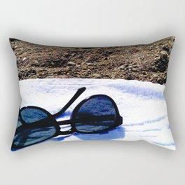 see, sun glasses, calm , beach , summer Rectangular Pillow