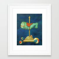 carnival Framed Art Prints featuring carnival by colorlabo