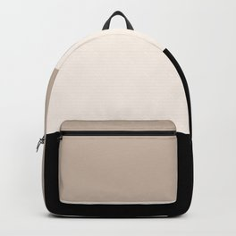 black tan cream bold stripes Backpack