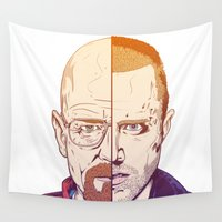 breaking bad Wall Tapestries featuring Breaking Bad by Connick Illustrations