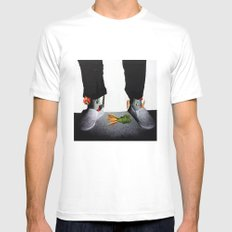 OUT OF BODY White Mens Fitted Tee MEDIUM