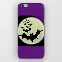 Bats and Moon iPhone Skin