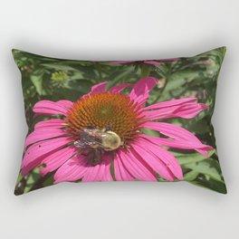 Bee on flower Rectangular Pillow