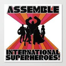 International Superheroes Canvas Print