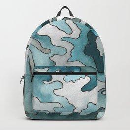 Mount Rainier, WA Ink & Watercolor Contour Map Backpack