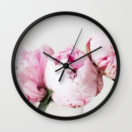 Peonies in a Vase Wall Clock