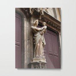 Virgin statue Marie Metal Print