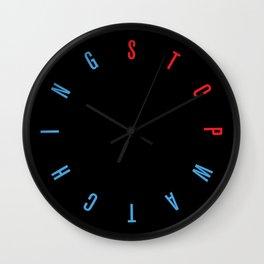 Stop Watch - Black Wall Clock