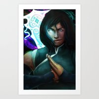 the legend of korra Art Prints featuring Korra by Nicole M Ales