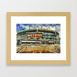 Arsenal FC Emirates Stadium Art Framed Art Print