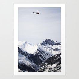 RedBull Helicopter session Art Print