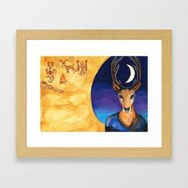 Stag Dreamer Framed Art Print