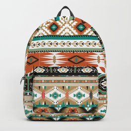 Earthy Aztec Tribal Geometric Backpack